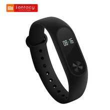 Original Xiaomi Mi Band 2 Miband 2 Smart Bracelet Wristband Waterproof IP67 Fitness Tracker Sleep Passometer Android IOS Wrist(China)
