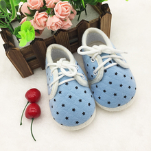 Hot Sale Anti Slip Cotton Shoes Crib Shoes Soft Bottom Shoes Spring Autumn Dot Shoes Fashion Baby First Walker 2017