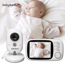 Babykam 3.2 inch baba electronics digital baby monitor fetal camera with night vision Lullabies Temperature monitor 2 way Talk(China)