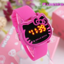 Top Quality 7 Colors Cute Hello Kitty Watch For Kids Women Fashion Casual Led Wristwatch Children Watch Digital Clock Relogio
