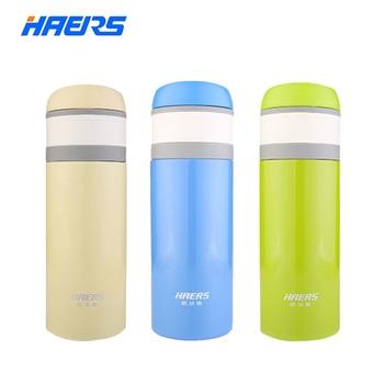 Haers 350ml Thermos Mug Candy Color Thermo Mug with Lid High Quality Stainless Steel Insulated Thermal Mug LD-350-9