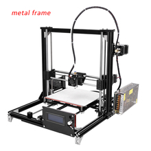 LCD Diy Mini 3d Printer,3d printing machine With Heated Bed With Two Rolls Filament 2GB SD Card