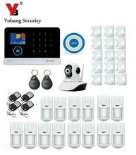 Yobang Security-House Intelligent Auto Burglar Door Security Alarm System RFID WIFI GSM SMS Alarm Kits With IP Camera Monitoring