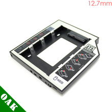 [Free DHL] 12.7mm SATA to SATA Second HDD Caddy Enclosure for Laptop 2.5inch Hard Disk Factory Price - 100pcs(China)