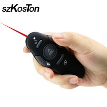 Wireless 2.4GHz Presenter with Red Laser Pointers Pen USB RF Remote Control Page Turning PPT Powerpoint Presentation