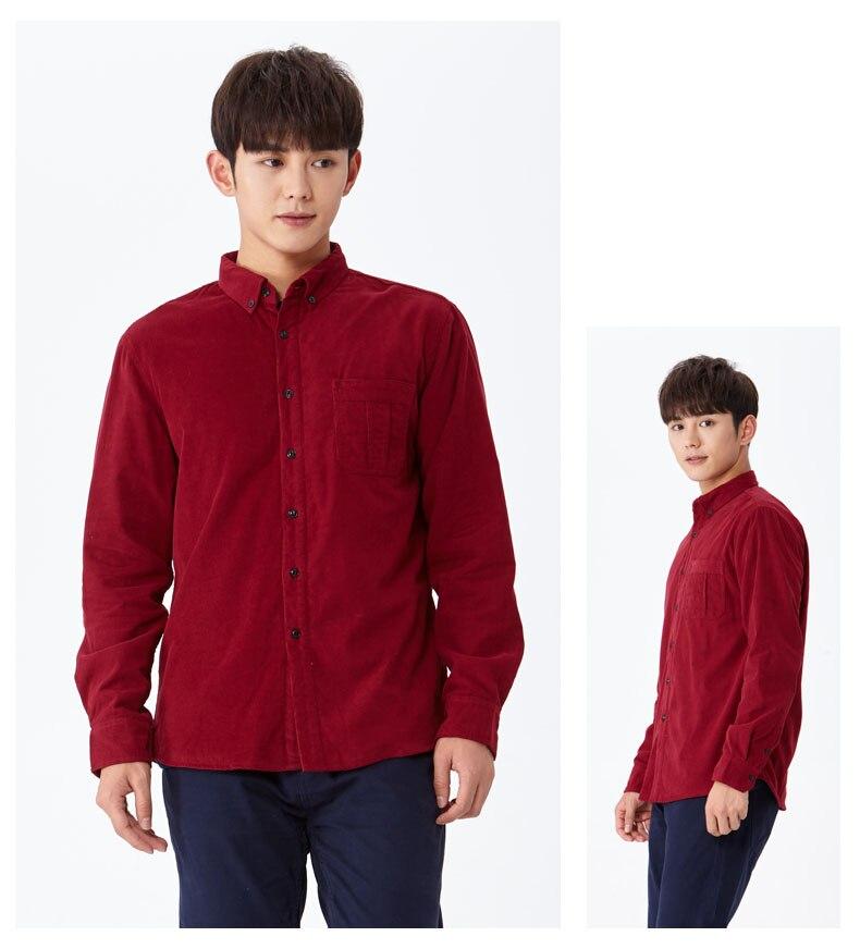 corduroy wine shirt wine red 01