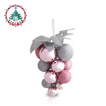 inhoo Christmas Decoration for home 2017 Silver Pink Grape String christmas pendant Hanging Drop Ornaments Supplies Xmas Party(China)