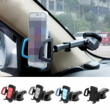 Car Phone Holder Gps Accessories Suction Cup Auto Dashboard Windshield Mobile Cell Phone Retractable Mount Stand #R179T#(China)