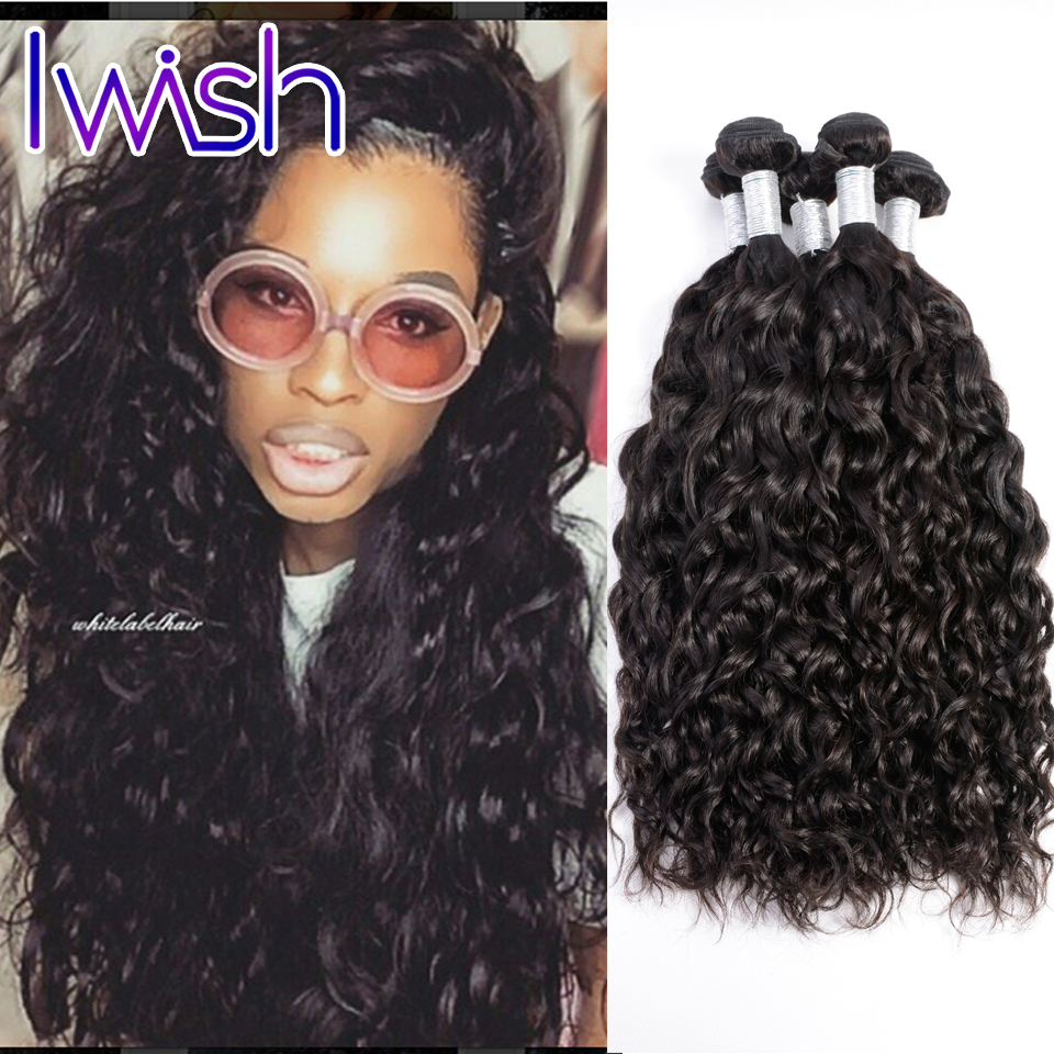 Indian Water Wave Hair 4 Bundles Lot Indian Virgin Hair Water Wave Human Hair Weave Raw Indian Water Wave Iwish Hair Products<br><br>Aliexpress
