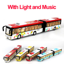 1 Pcs Four Colours 1:18 Alloy Model Bus Alloy Diecast Musical Car Model Pull Back Toy Car Model Electronic Car Kids Toys Gift(China)