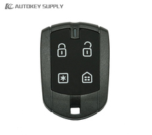 AUTOKEY SUPPLY Factory direct sale. Free shipping 50PCS burglar alarm 4 button control FX330 shell with battery clip, with LOGO.(China)