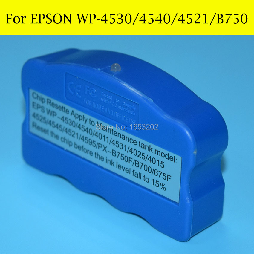 1 Piece T6710 Waste Ink/Maintenance Tank Chip Resetter For EPSON T6711 WP-4520/WP-4530/WP-4533/WP-4540/WP-4590 Printer<br><br>Aliexpress