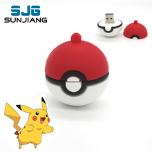 Pokemon ball U stick new Arrival pendrive 64GB 32GB 16GB 8GB 4GB USB flash drive pocket memory flash drive mini pen drive