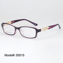 55515 Woman's crystal prescription eyewear myopia eyeglasses plastic optical frame glasses(China)