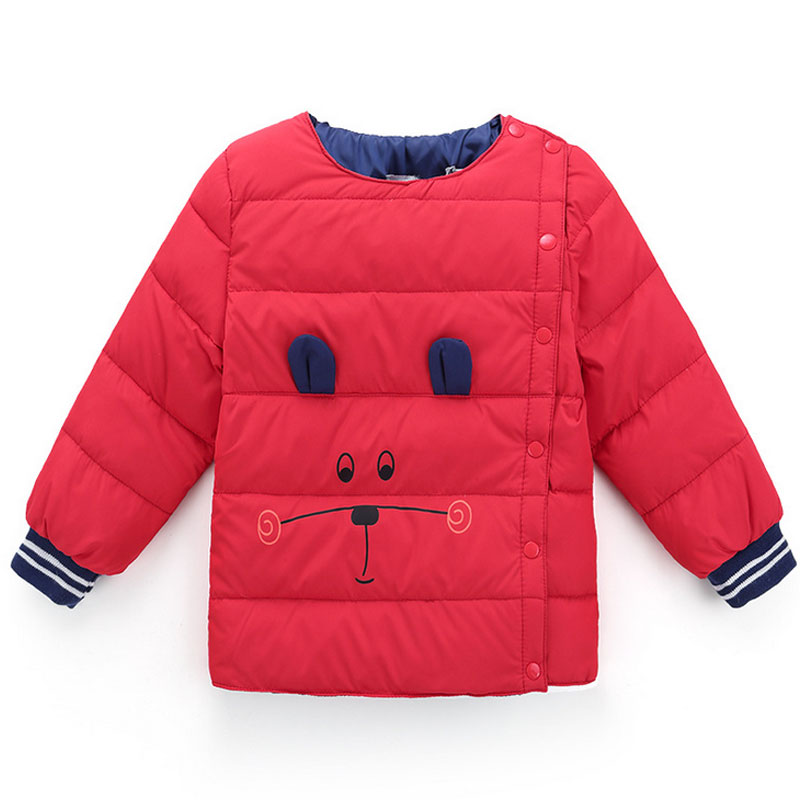 Winter Of 2017 New Children Long Sleeve Outerwear Thick Cartoon Animal Without Cap Children Down Liner Down Warm ClothesОдежда и ак�е��уары<br><br><br>Aliexpress