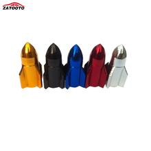 ZATOOTO (100 pieces /lot ) Wholesale New Aluminum Bicycle Road Mountain Bike Rocket-like Valve Mouth Cover Dust Cap(China)