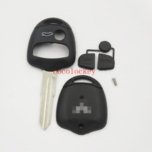 1pcs/lots blank  key High quality 3 Buttons Remote Key Shell uncut left blade For Mitsubishi Lancer Outlander Colt Mirage