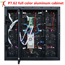 732*732mm 16scan P7.62 hd SMD full color aluminium equipment cabinet display ,17222dots/m2(China)