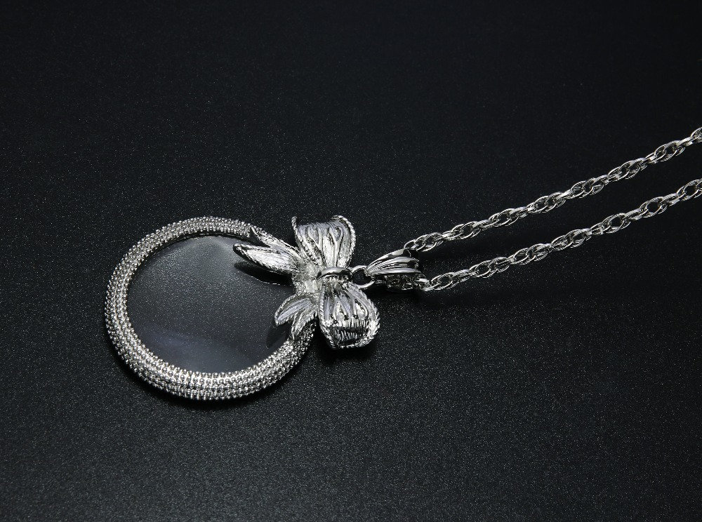 2x Magnifying Glass Top Quality Necklace Reading Glass Pendant (4)