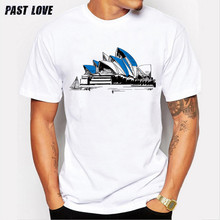 Past Love Brand New arrival short-sleeved cotton t-shirt purpose tour Olympic Center Design Print tshirt men 2017 round neck Tee