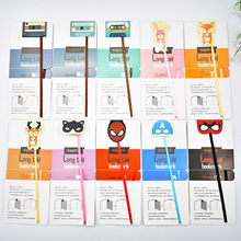 Creative Kawaii Magnetic Bookmarks Cute Cartoon Rabbit Cat Book Markers For Kids School Supplies Free Shipping 848(China)
