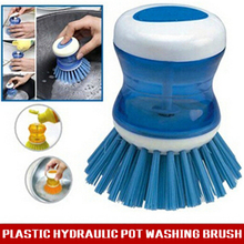 New Plastic Kitchen Pot Pan Brush Scrubber Cleaning Cleaner Tool Randomly free shipping Free Shipping