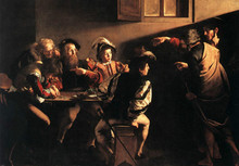 100 %hand-painted famous artists painting reproduction by Caravaggio handmade canvas oil painting The-Calling-of-Saint-Matthew(China)