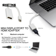 MINI Display Port to HDMI Cable Adapter 25CM For Apple Lenovo Dell HP Mac Macbook Pro Air Adapter