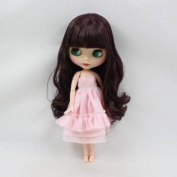 Poupée nue Pour Série No. BL135950 organe COMMUN Avec Une Frange noir et modène cheveux cadeau jouet