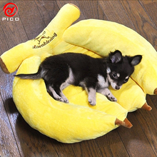 Cute Banana Pet Puppy Bed Sofa cheap Dog Bed House for small dog Winter Warm dogs Cushion Mat ZL324(China)