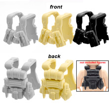 10pcs/lot Military Army Tactical Vest Action Figures Blocks Mini Armor Plastic DIY Bricks Part Building Toys for Children(China)