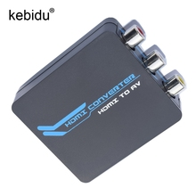 Kebidu HDMI to AV 3RCA CVBs Composite Video Audio Converter Adapter Supporting PAL/NTSC with USB Charge Cable For PC Xbox TV DVD(China)