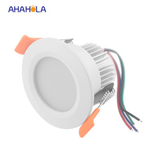 external control 12v 3w rgb downlight lamp ceiling surface down light spot led recessed light 5pcs/lot