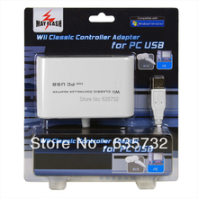 MayFlash Dual Port for Wii Classic Controller Pro for Nunchuk Remote to PC USB for PS3 Adapter(Hong Kong)