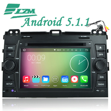 Free Camera Tape Android 5.1 Car DVD Player GPS Radio for Toyota Prado Land Cruiser 120 2002 2003 2004 2005 2006 2007 2008 2009