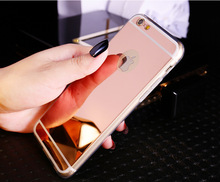 Cases For iPhone 5 5s SE 6 6s 7 Plus Luxury Mirror TPU Capa Soft Silicone Case Protector Shell Cover For iPhone 7 Plus 4 4S(China)