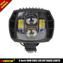 40W led Off Road Lights 5inch New Led Driving Light New led fog light used for car truck suv atv marine Cruiser 4wd 4x4 lamp x1(China)