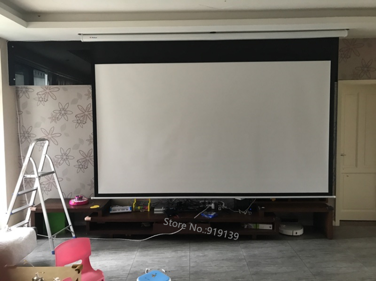 150inch Electric projection screen pic 20