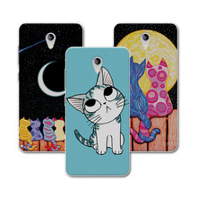 "Cut Painted Dog Bear Cat Phone Case ZTE Blade A510 510 Cover Soft TPU Funda Capa ZTE a510 BA510 5""+Free Gift"