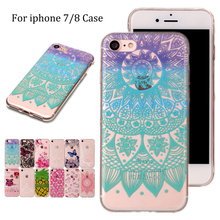For iphone 7/8 4.7inch TPU Phone Case For Apple iPhone 7 8 Fashion Lace Butterfly Flower Unicorn Soft Silicone Back Shell Cover(China)