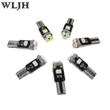 WLJH T5 Led 7 Color Car Led Light 74 73 286 Car Dash Dashboard LED Instrument Panel Light Bulb For BMW E36 E34 E32 E38 E31 M3 Z3(China)