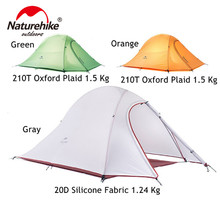 Naturehike Folding Tent 20D Silicone Fabric Ultralight Double Layers 3-4 Person Double Tente Camping Rapide Tent Large Camping