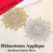 1pcs Dazzling Glass Material High Quality Strass Crystal Clear Rhinestones Applique For Wedding Decoration