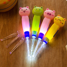 2pcs child ears cleaning ear spoon Light baby care with light wholesale Earwax spoon Syringe japanese styledigging luminous dig(China)