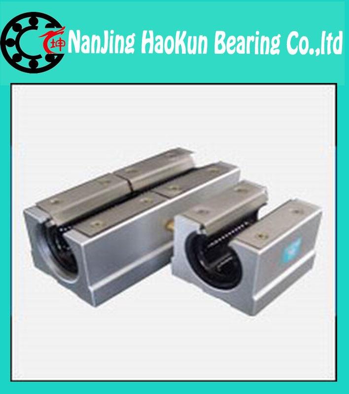 2pcs SBR16 L 200mm linear shaft rail support with 4pcs SBR16UU linear motion auminum bearing sliding block   router part<br><br>Aliexpress