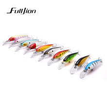 Fulljion 10pcs/lot Fishing Lures for Most Fishing Rods Wobbler Crankbait Minnow Fishhooks Plastic Baits Pesca Isca Artificial