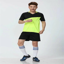 Cheap soccer tracksuit Football Training Suit for Men soccer jersey kids Quick Dry Polyester Training Uniform RT-1831(China)