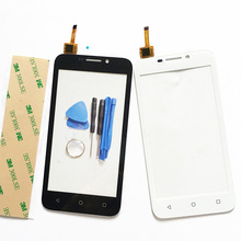 Y541 Touch Panel For Huawei Y541 Y5 Y541-U02 Touch Screen Digitizer Sensor Front Glass Touchscreen 4.5inch +3M Sticker