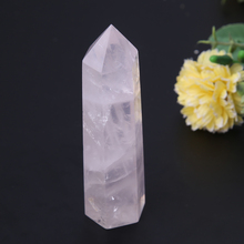 80-110mm Natural Rock Pink Rose Quartz Crystal Home Office Desk Decor E1Xc(China)