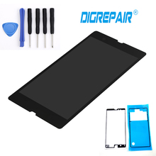 "5.0"" Black For Sony Xperia Z L36h L36i C6606 C6603 C6602 C6601 LCD Display touch screen digitizer Full Assembly+Tools+Adhesive"